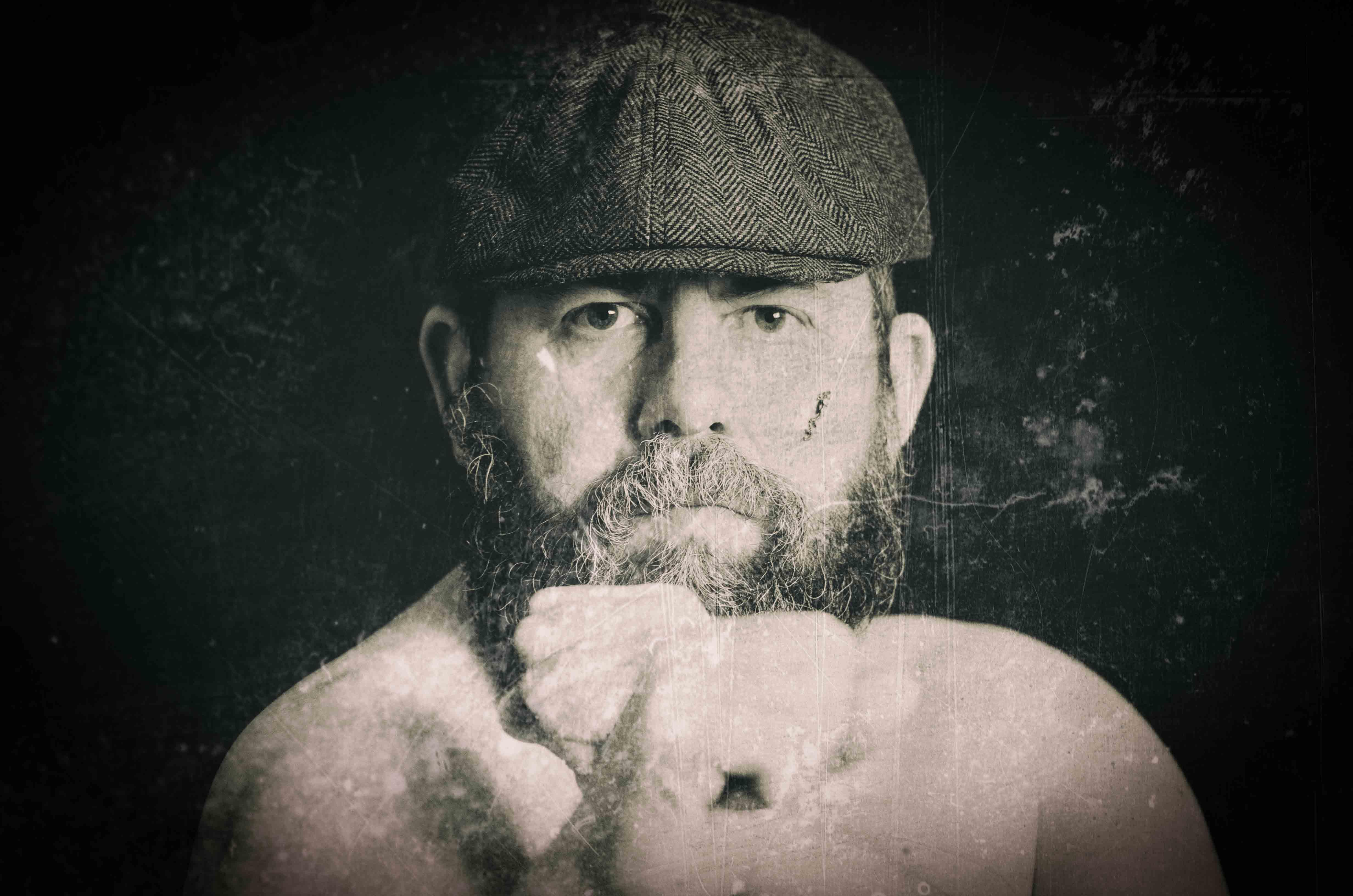 Male portrait flat cap
